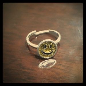 VINTAGE90s Smiley Face Ring, adjustable.